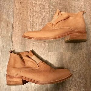 Eileen Fisher Tan Leather  Soul ankle booties